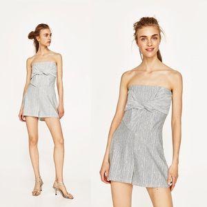 {Zara Woman} Striped Romper
